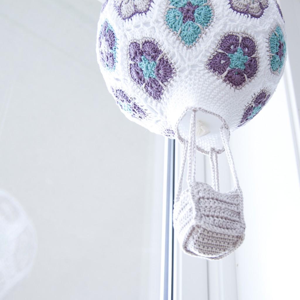 Crochet African Flower Hot Air Balloon