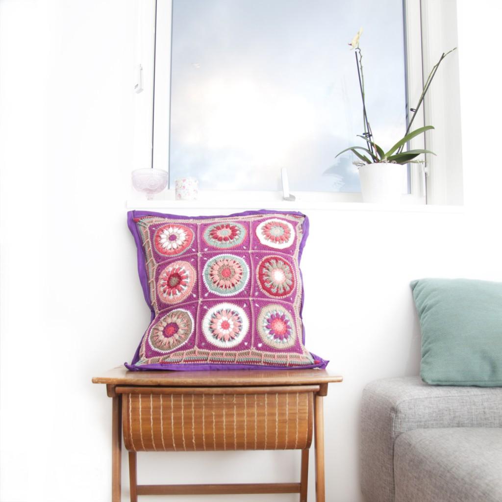 Crochet Flower Square - Puff Pop Flower