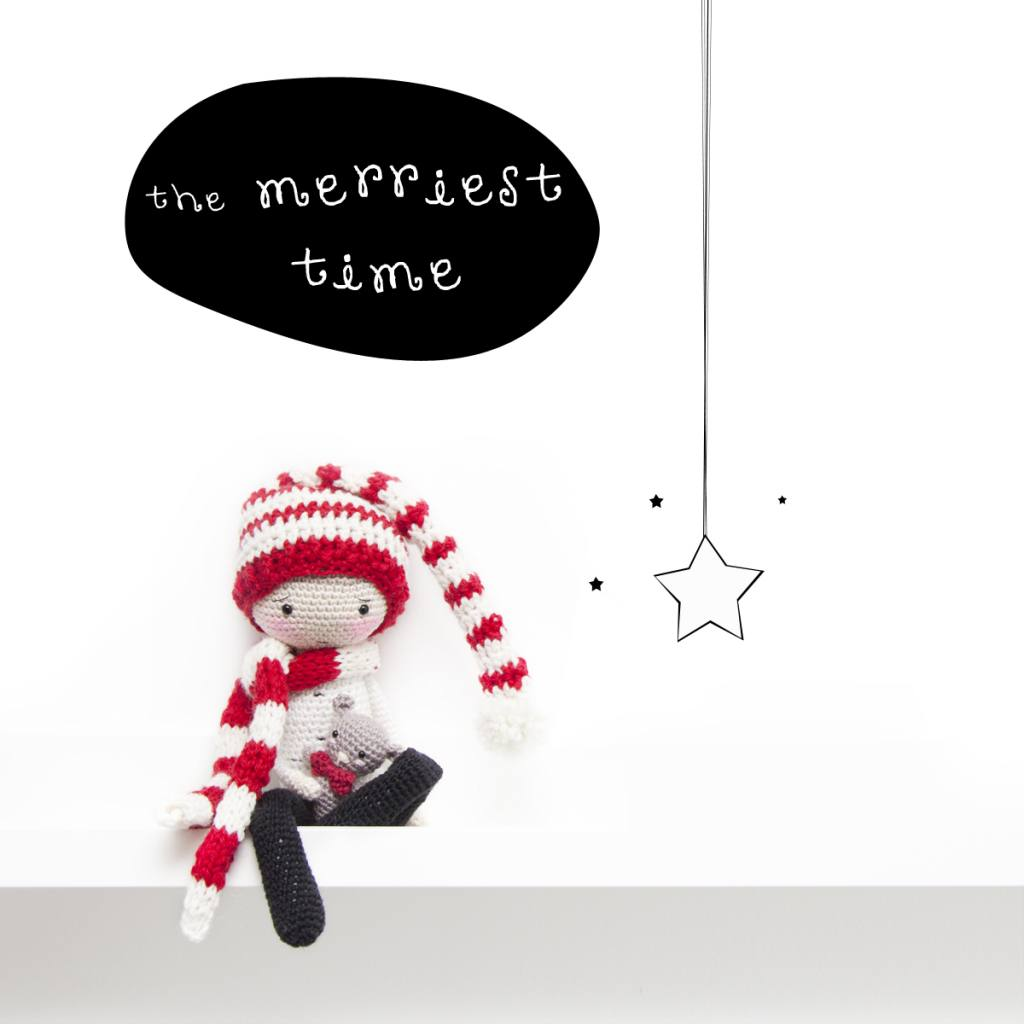 The merriest time - Crochet pixie hat