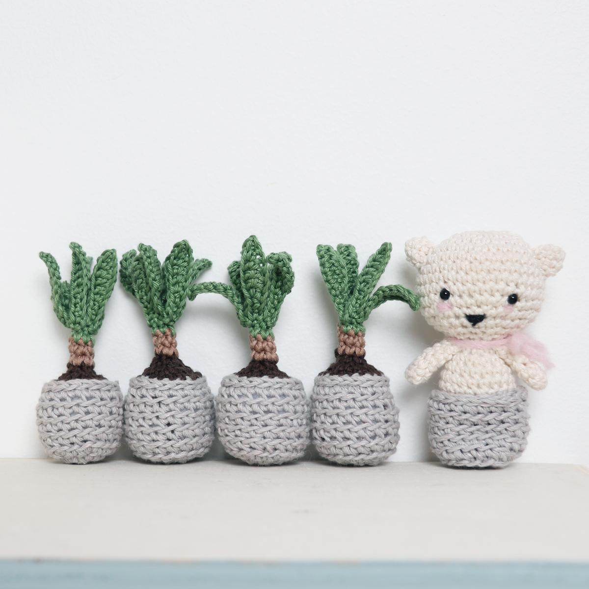 Crochet Mini Yucca Plant by Ina Rho