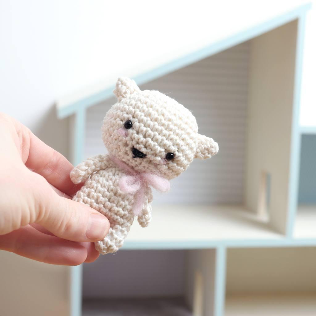 Crochet mini kitten