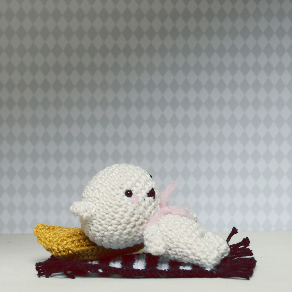 Crochet Mini Pillow by Ina Rho
