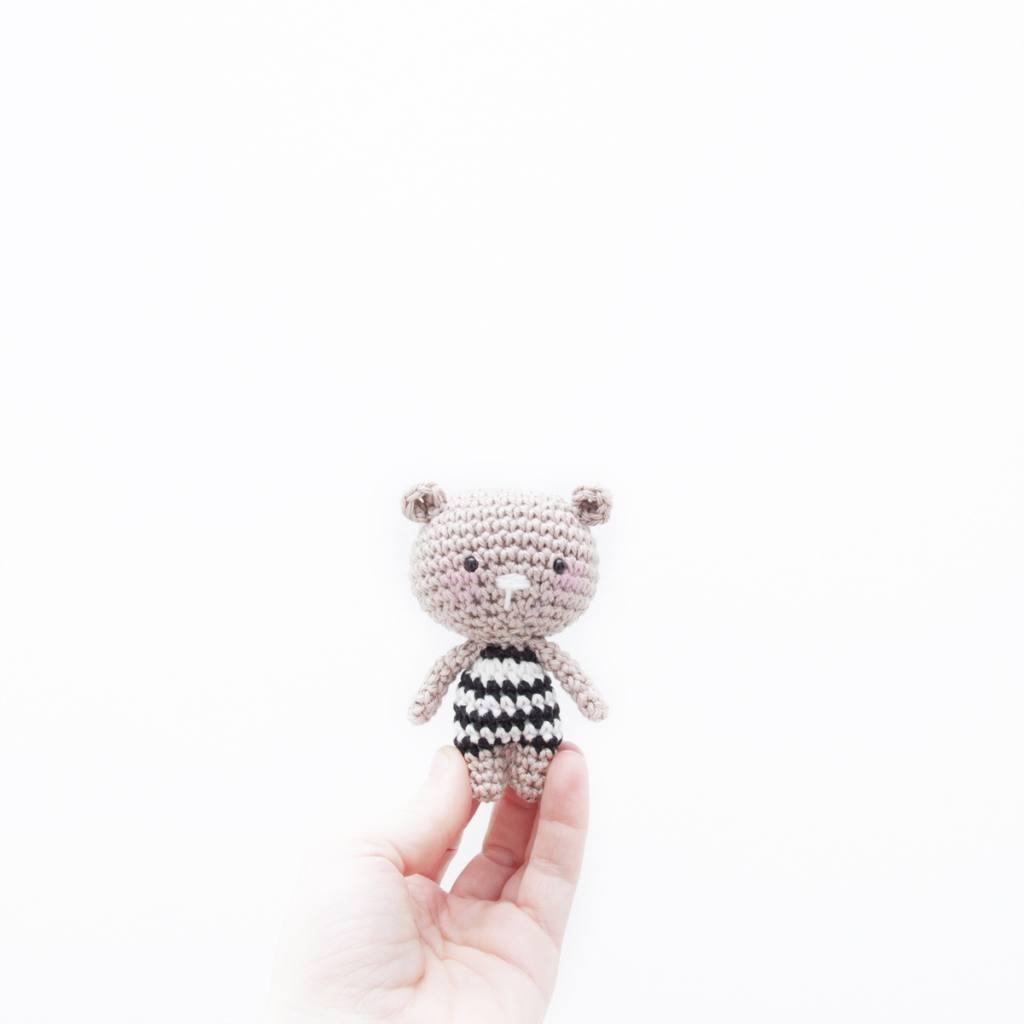 Mini teddy bear - Crochet Pattern by Ina Rho