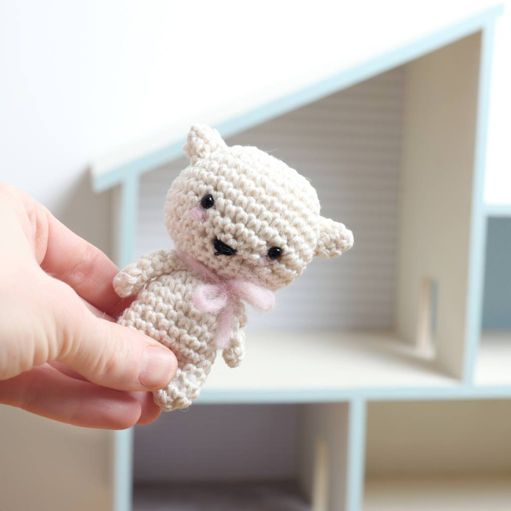 Crochet mini kitten