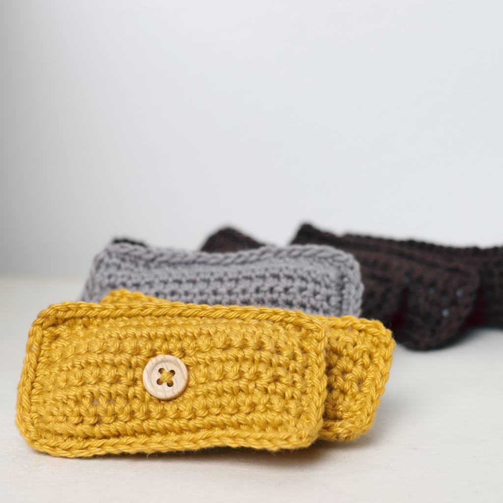 Crochet Mini Pillow by Ina Rho