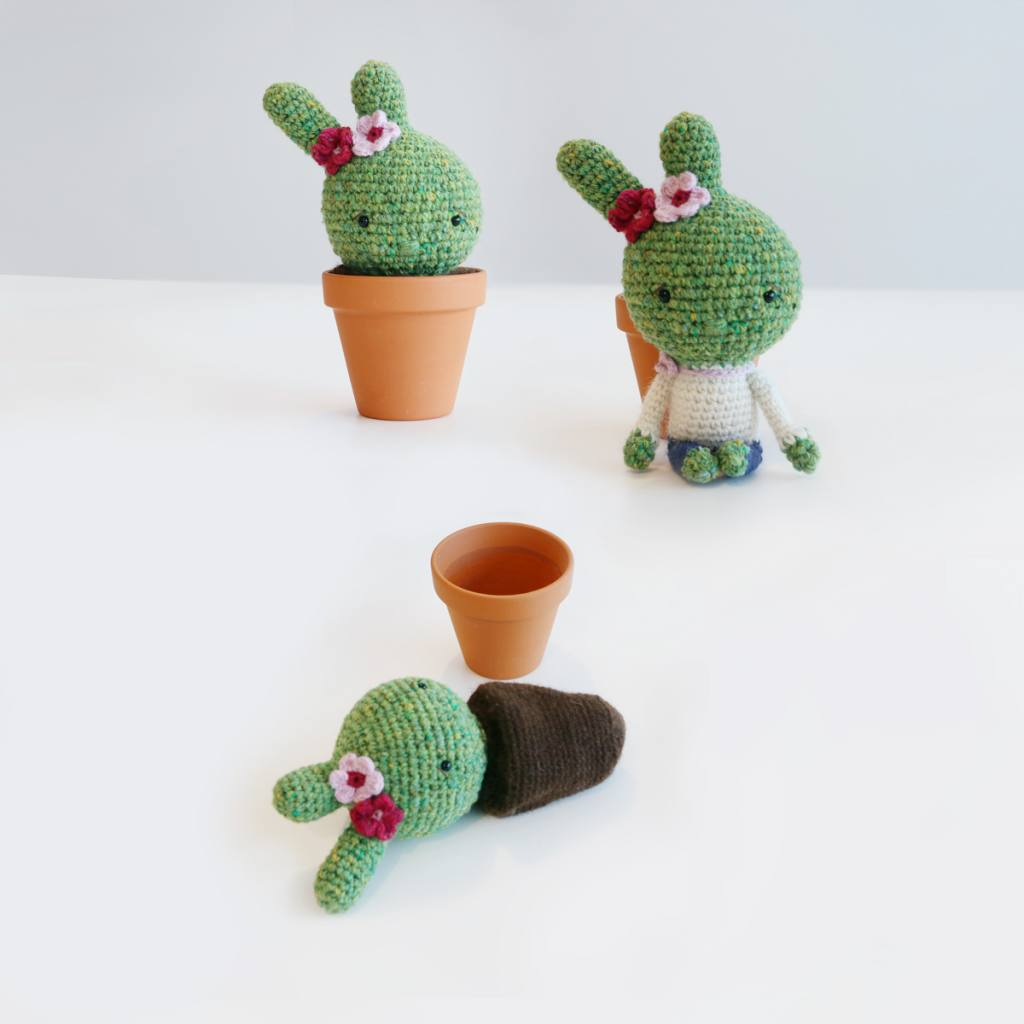 Free Pattern: Crochet Playful Cactus girl by Ina Rho